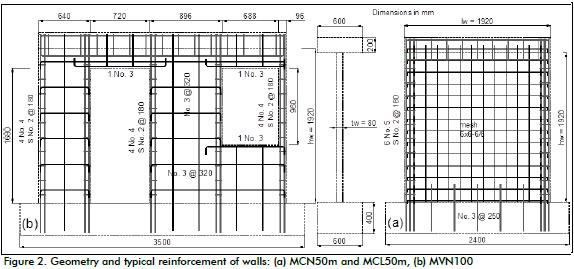 table 3 shows the mean value of measured mechanical proper ties of concrete these properties were measured at the time of wall testing - Reinforced Concrete Wall Design Example